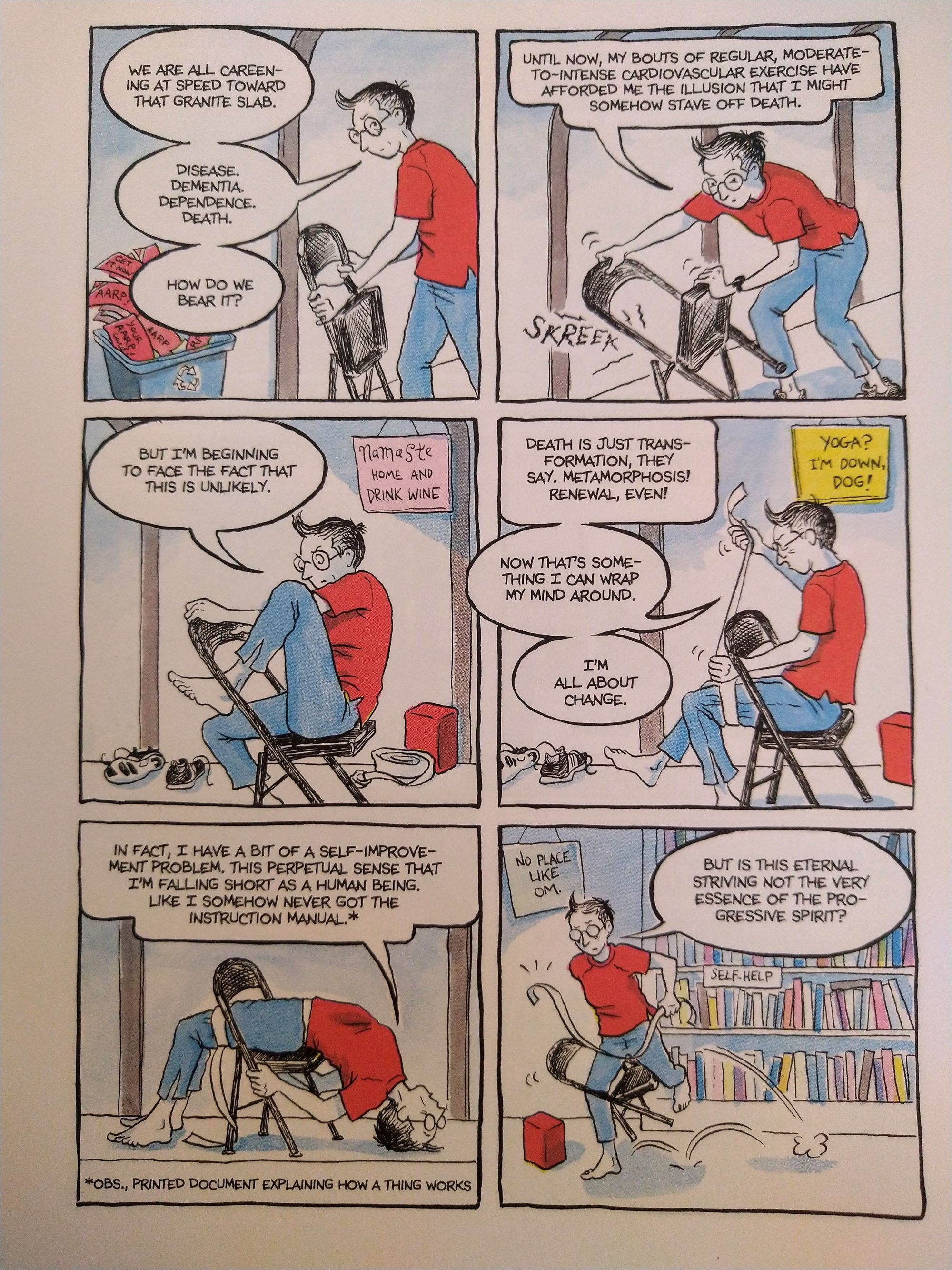 A page from Alison Bechdel's book