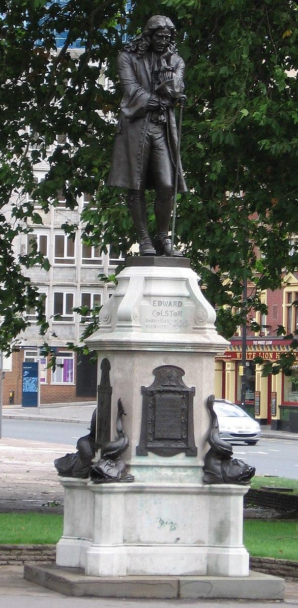 The bronze statue of Edward Colston