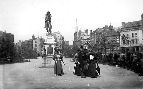 A statue from the Victorian era of the Edward Colston statue